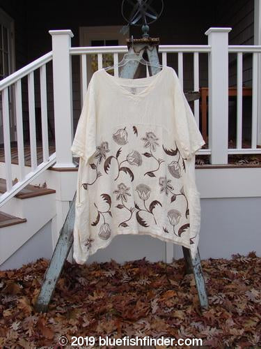 Vintage Blue Fish Clothing Barclay Heavy Linen Urchin Side Pocket Tunic Sunflower Cream Size 2- Bluefishfinder.com