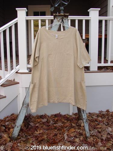 Vintage Blue Fish Clothing Barclay Heavy Linen Urchin Side Pocket Tunic Unpainted Wheat Size 2- Bluefishfinder.com