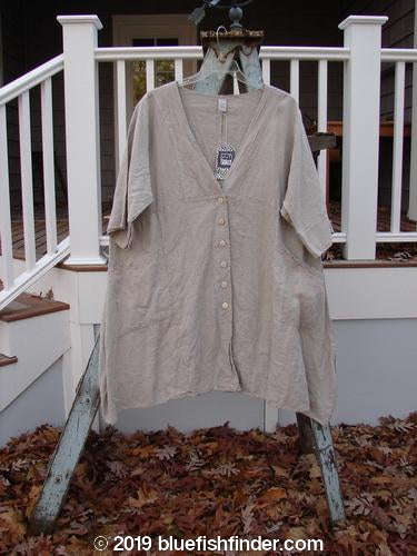 Vintage Blue Fish Clothing Barclay NWT Linen Adras Coat Unpainted Slate Size 2- Bluefishfinder.com