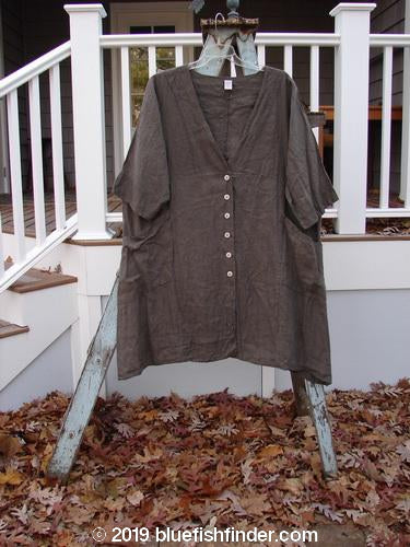 Vintage Blue Fish Clothing Barclay Linen Adras Tunic Unpainted Granite Size 2- Bluefishfinder.com