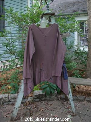Vintage Blue Fish Clothing Barclay Pocket Tunic Star Moon Dusty Plum Size 0- Bluefishfinder.com