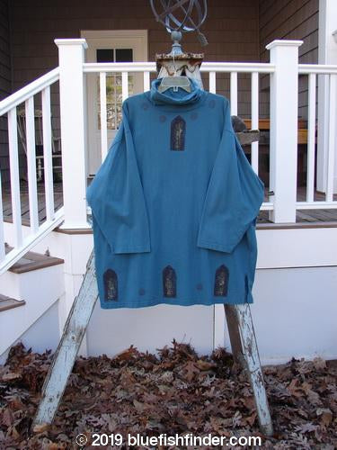 Vintage Blue Fish Clothing 1993 Long Sleeved Turtleneck Primitive Teal Size 2- Bluefishfinder.com