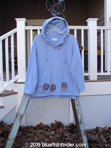 Vintage Blue Fish Clothing 1999 Two Button Pullover Festive Moon Skylark Size L- Bluefishfinder.com