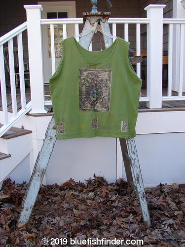 Vintage Blue Fish Clothing 1992 Oversized Tank Sea Turtle Wheatgrass OSFA- Bluefishfinder.com