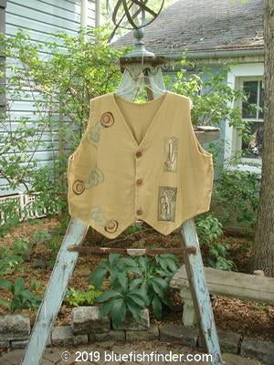 Vintage Blue Fish Clothing 1995 Cottage Vest Music Burnished Gold OSFA- Bluefishfinder.com
