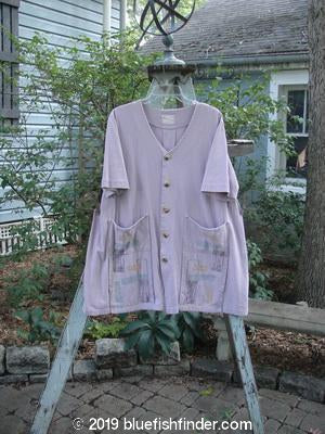 Vintage Blue Fish Clothing 2000 Double Decker Pocket Top Stripe Pale Purple Size 0- Bluefishfinder.com