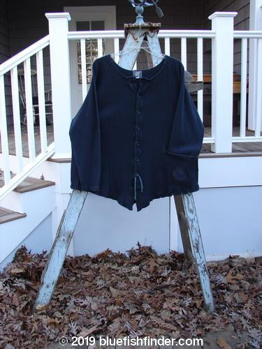 Vintage Blue Fish Clothing 2000 Thermal Moonlight Cardigan Pinwheel Black Size 2- Bluefishfinder.com