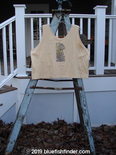 Vintage Blue Fish Clothing 1997 Crop Tank Mermaid Dawn Size 2- Bluefishfinder.com