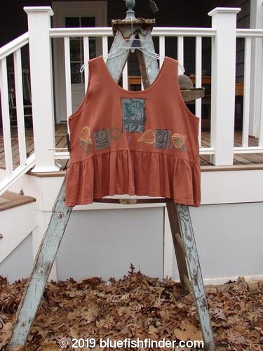 Vintage Blue Fish Clothing 1992 Peplum Top Beach Sienna OSFA- Bluefishfinder.com