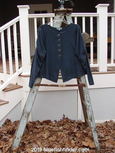 Vintage Blue Fish Clothing Barclay Decora Crop Jacket Unpainted Navy Size 1- Bluefishfinder.com