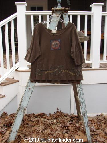 Vintage Blue Fish Clothing 2000 Cotton Hemp Theo Top Center Bark Size 2- Bluefishfinder.com