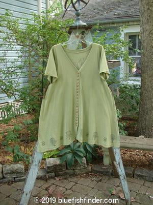 Vintage Blue Fish Clothing 1994 Tiny Button Dress Garden Kelp Size 1- Bluefishfinder.com