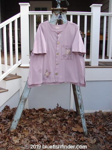 Vintage Blue Fish Clothing 1999 Camp Shirt Butterfly Lavender Size 2- Bluefishfinder.com