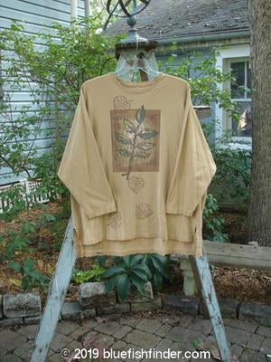 Vintage Blue Fish Clothing 1998 Long Sleeved Vented Tee Fern Goldenrod Size 2- Bluefishfinder.com