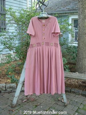Vintage Blue Fish Clothing 2000 Lulu's Dress Square Rose Size 0- Bluefishfinder.com