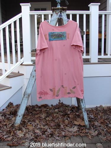 Vintage Blue Fish Clothing 1992 T Dress Vintage Fish Pink Clover OSFA- Bluefishfinder.com