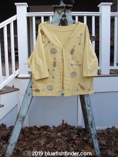 Vintage Blue Fish Clothing 1993 PJ Top Circus Travel Dusk Size 1- Bluefishfinder.com