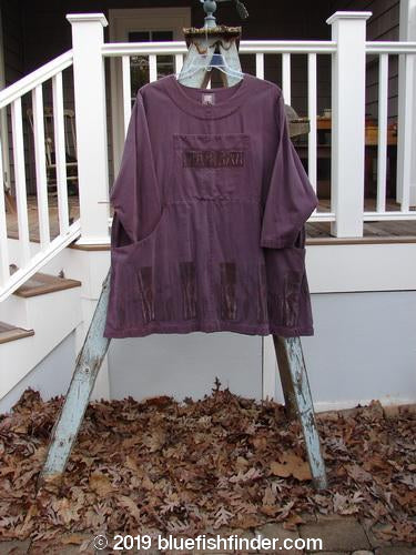 Vintage Blue Fish Clothing 1999 Denim Romper Dress Forest Twig Grey Plum Size 1- Bluefishfinder.com