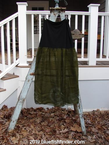 Vintage Blue Fish Clothing 2000 Organza Aios Dana Skirt Celtic Lichen Size 0- Bluefishfinder.com
