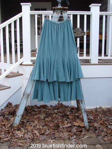 Vintage Blue Fish Clothing 1993 Two Story Skirt Unpainted Teal Size 2- Bluefishfinder.com