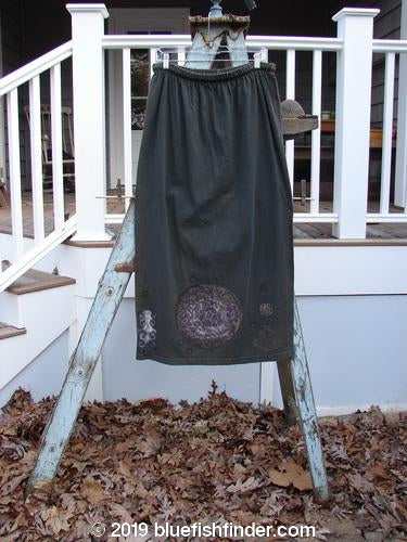 Vintage Blue Fish Clothing 1993 Drawcord Skirt Giant Pinwheel Black Sand Size 2- Bluefishfinder.com