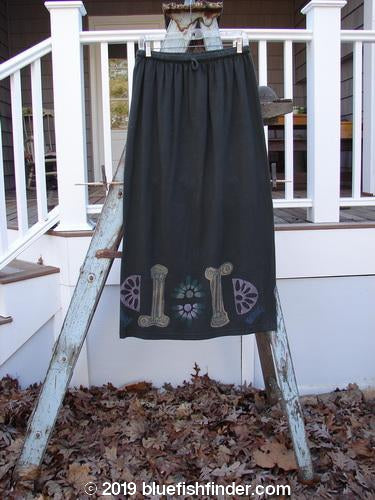 Vintage Blue Fish Clothing 1993 Drawcord Skirt Column Black Sand Size 2- Bluefishfinder.com