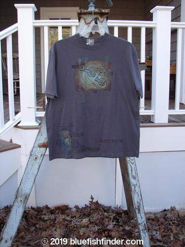 Vintage Blue Fish Clothing 2000 NWT Short Sleeved Tee Direction Gear Iron Size 1- Bluefishfinder.com