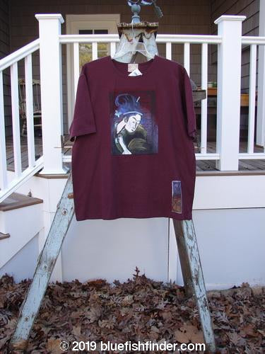 Vintage Blue Fish Clothing 1999 NWT Artist Choice Short Sleeved Tee Geisha Stained Glass Size 0- Bluefishfinder.com