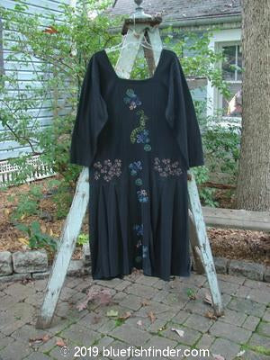 Vintage Blue Fish Clothing 1996 Garden Path Dress Many Florals Storm Size 1- Bluefishfinder.com