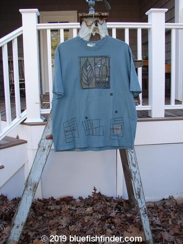 Vintage Blue Fish Clothing 2000 NWT Short Sleeved Tee Seek Puddle Size 1- Bluefishfinder.com