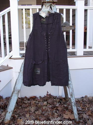 Vintage Blue Fish Clothing 2000 NWT Summercloth Circle Vest Letter E Peat Size 0- Bluefishfinder.com