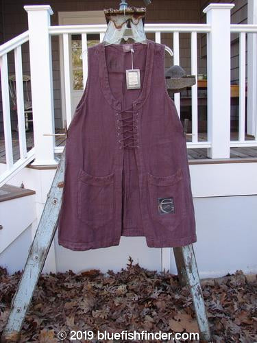 Vintage Blue Fish Clothing 2000 NWT Summercloth Circle Vest Letter E Loam Size 0- Bluefishfinder.com