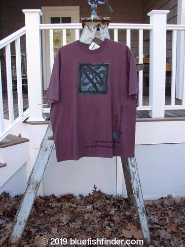 Vintage Blue Fish Clothing 2000 NWT Short Sleeved Tee Celtic Knot Loam Size 2- Bluefishfinder.com