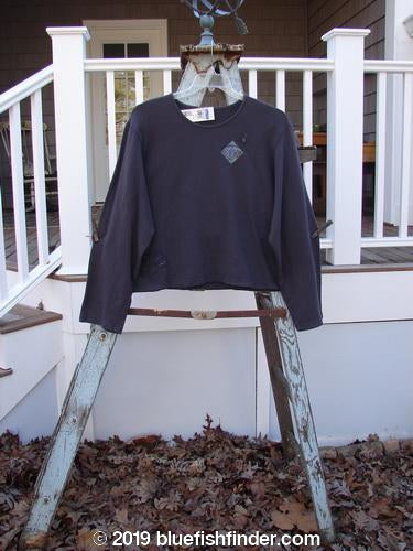 Vintage Blue Fish Clothing 2000 NWT Terry Crew Pullover Space Orbit Size 2- Bluefishfinder.com