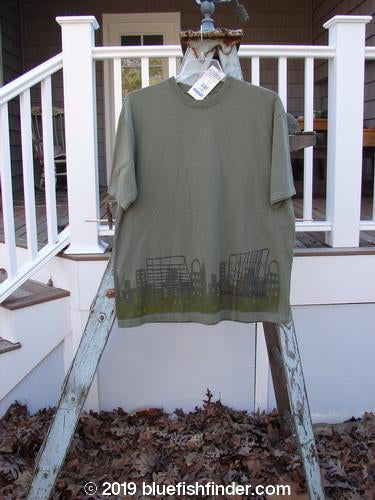 Vintage Blue Fish Clothing 2000 NWT Short Sleeved Tee Cityscape Park Size 1- Bluefishfinder.com