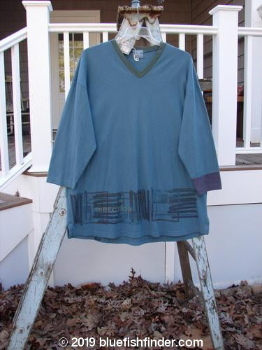 Vintage Blue Fish Clothing 2000 NWT V Grid Top Direction Fence Puddle Size 0- Bluefishfinder.com