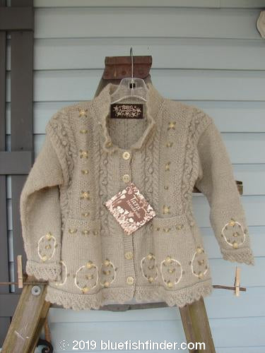 Vintage Blue Fish Clothing Tara Handknits NWT Kids Wild Smock Sweater Jacket Size Medium- Bluefishfinder.com