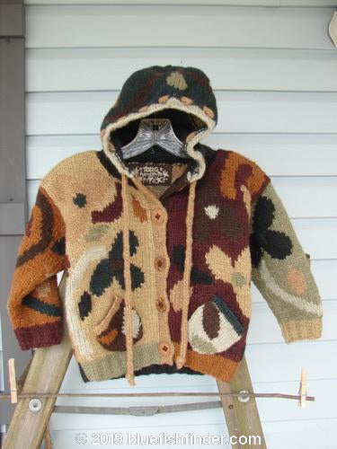 Vintage Blue Fish Clothing Tara Handknits Kids Hoodie Cardigan Sweater Size 2 to 4- Bluefishfinder.com