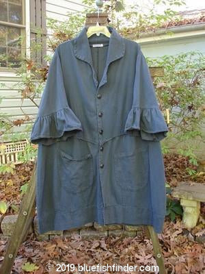 Vintage Blue Fish Clothing Barclay Decora Brushed Twill Flutter Coat Navy Teal Size 1- Bluefishfinder.com