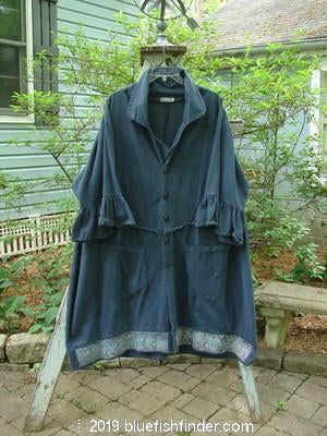 Vintage Blue Fish Clothing Barclay Brushed Twill Flutter Coat Garden Navy Size 2- Bluefishfinder.com