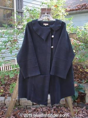 Vintage Blue Fish Clothing Barclay Celtic Moss Asymmetrical Collar Coat Black Size 1- Bluefishfinder.com