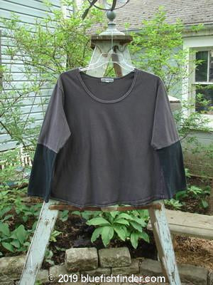 Vintage Blue Fish Clothing Barclay Contrast Bell Sleeve Top Black Plum Size 2- Bluefishfinder.com