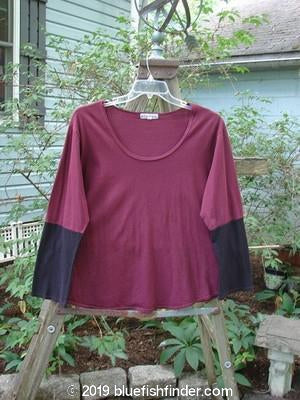 Vintage Blue Fish Clothing Barclay Contrast Bell Sleeve Top Burgundy Size 2- Bluefishfinder.com