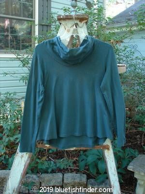 Vintage Blue Fish Clothing Barclay Cotton Lycra Cowl Neck Scoop Front Top Teal Size 1- Bluefishfinder.com