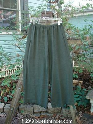 Vintage Blue Fish Clothing Barclay Crinkle Wide Leg Pant Moss Size 0- Bluefishfinder.com
