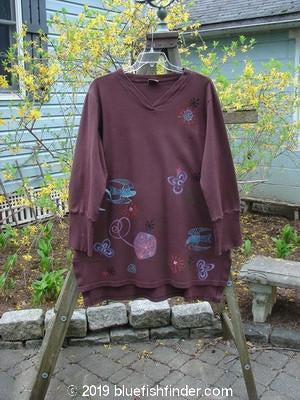 Vintage Blue Fish Clothing Barclay Crossover V Neck Tunic Love Dove Peat Size 1- Bluefishfinder.com