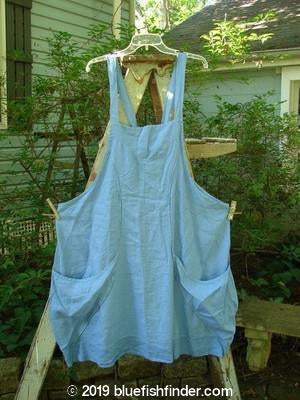 Vintage Blue Fish Clothing Barclay Curvy Pocket Apron Jumper Sky Size 2- Bluefishfinder.com