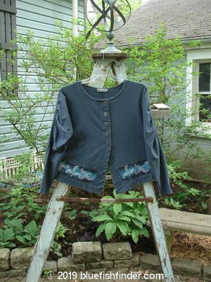 Vintage Blue Fish Clothing Barclay Decora Crop Jacket Leaf Curl Navy Size 1- Bluefishfinder.com