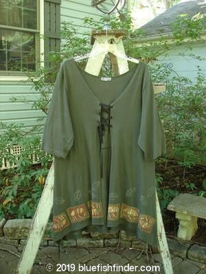 Vintage Blue Fish Clothing Barclay Lace Up Panel Duster Olive Size 2- Bluefishfinder.com