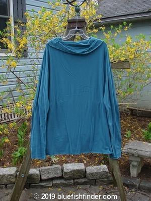 Vintage Blue Fish Clothing Barclay Lightweight Cotton Lycra Cowl Collar Top Teal Size 1- Bluefishfinder.com
